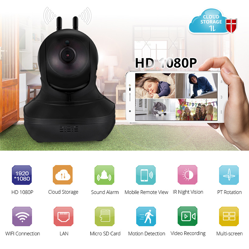 KERUI 1080P IP Camera 1920*1080  Wireless Home Security IP Camera Surveillance Camera WiFi Night Vision CameraKERUI 1080P IP Camera 1920*1080  Wireless Home Security IP Camera Surveillance Camera WiFi Night Vision Camera