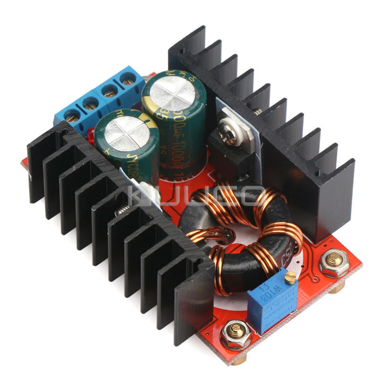 5 PCS/LOT 100W Adjustable Power Supply Module DC 10~32V to 12~35V10A Boost Voltage Regulator/Charger/Adapter/Laptop Power 10pcs lot lm338k lm338 voltage regulator 5a 1 2v to 32v