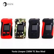 Original Yosta Livepor 230 caja Mod 510 hilo TC TCR vaping modos Vape mod 18650 batería Mod de cigarrillo electrónico vaporizador