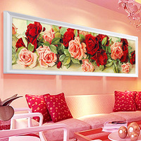 Home Decoration Diamond Painting Resin Cross Stitch Rose Flower Diy Diamond Embroidery Floral Diamond Mosaic Wall