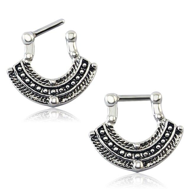 Фото прозрачные циркониевые украшения для тела модные кольца носа