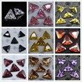 5 Pçs/set Triângulo Zircon 3D Decoração de Unhas Elegante Brilhando DIY Manicure Nail Art Acessórios 3*3mm