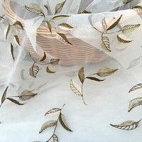 Vàng lá thêu Trắng Organza vải Ren cho may craft, Phụ Nữ ăn mặc-XL
