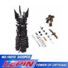 В наличии Бесплатная доставка Лепин 16010 2430 шт. Властелин колец Модель Набор строительных Наборы модель Compatible10237