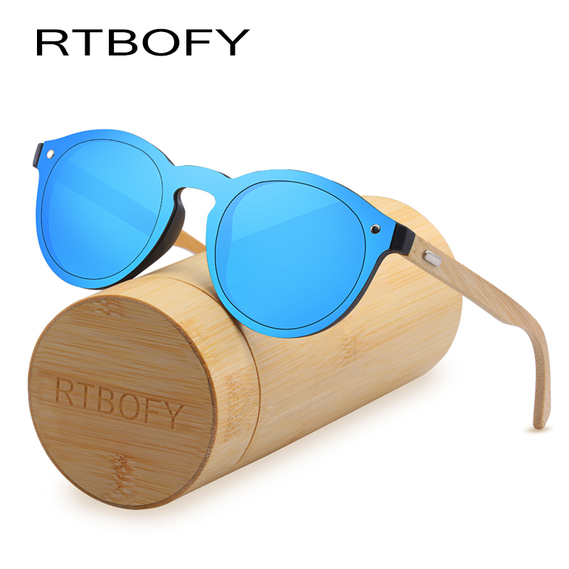 RTBOFY Holz Sonnenbrille für Frauen & Männer Bambus Rahmen Gläser ...