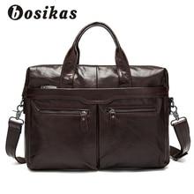 BOSIKAS Valódi bőr férfi táskák Férfi táska Crossbody táskák Messenger táska Férfi váll táska Fashion Kézitáska bőr természetesen