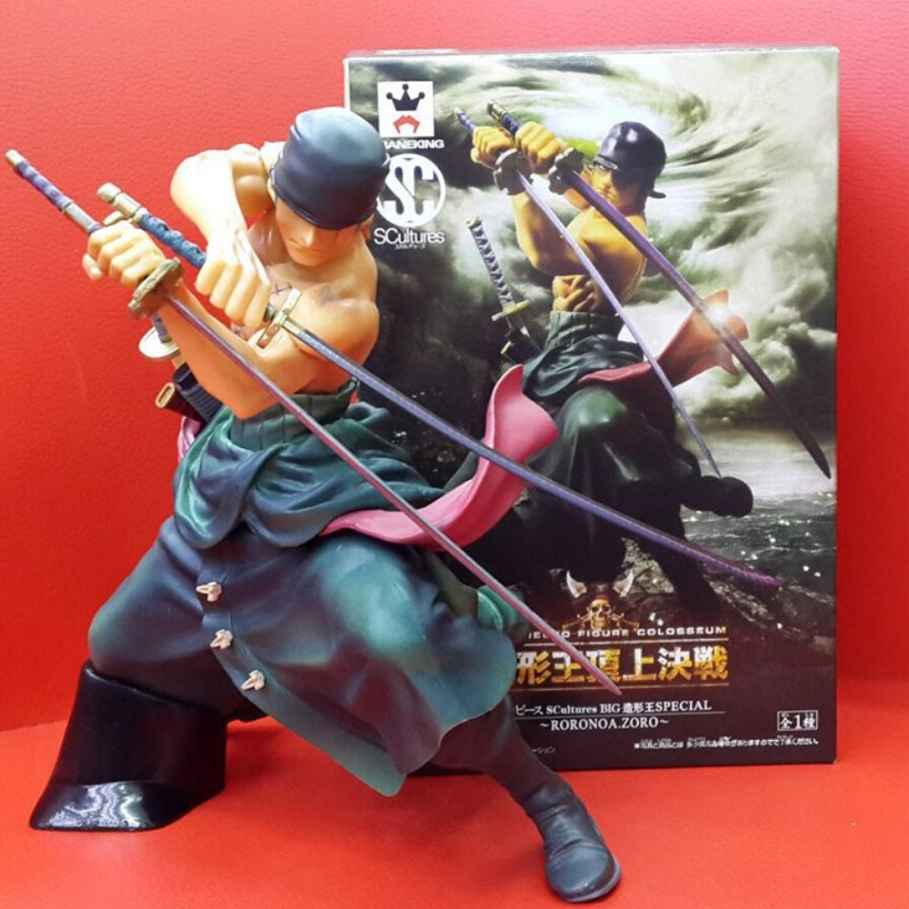 Japanese Anime One Piece Roronoa Zoro Figurine 17CM Action Figure Collectible Model Toys