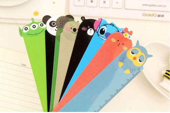 New Cute Creative Cartoon Animal Series PVC Rulers Traight Ruler Drawing Template For Kid School Gift Korean Papelaria