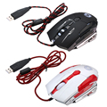 USB2.0 Wired Laser Gaming Mouse 7 Botones 4000 DPI Respiración LED óptico USB Con Cable Profesional Gaming Mouse Computer Mouse para PC Laptop