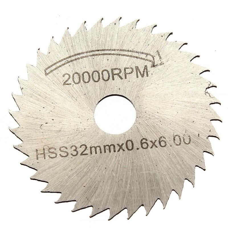Kits Of 6 Pcs HSS Saw Blade Circular Drive Decoupe Dent For Dremel Rotary Tool