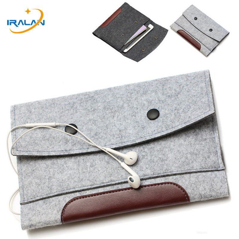 New Wool Felt Envelope Bags For Apple IPad Pro 9.7/10.5 Inch Tablet Case For IPad Pro 11 12.9 2018 Sleeve Bag Pouch Cover Shell