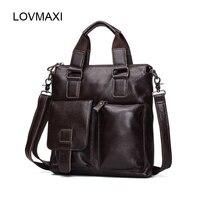 Fashion Leather Men S Bags Casual Leather Shoulder Bag Genuine Leather Men S Vintage Handbags Business