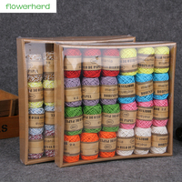 24rolls Box 10M Roll Colorful Paper String Paper Rope Handmade DIY Craft Tag String Home Decoration