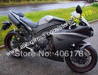 Ventas calientes, mejor precio corriente 12 13 14 YZF R1 carenado del Abs para Yamaha 2012-2014 YZF R1 negro deporte de la bici de carenados ( moldeo por inyección )