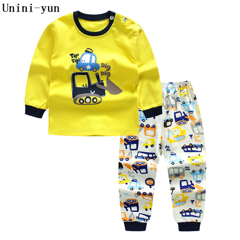 Unini-yun Spring Autumn Baby Boys Girls Cotton Full-sleeved Jacket+pants Boys Tracksuit Kids Clothing Set Baby Set 12M18M24M3T4T kids boys autumn clothing set new children spring and autumn leisure sport long sleeved two piece 5 8 10 12 age kids coat pants