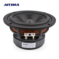 AIYIMA 1Pcs 5.25 Inch Audio Speaker Woofer 4OHM 8 Ohm 60W Midrange Bass Speakers Hifi LoudSpeaker For Bookshelf Home Theater DIY