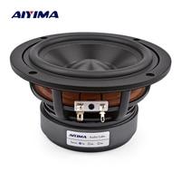 AIYIMA 1Pcs 5.25 Inch Audio Speaker Woofer 4OHM 8 Ohm 60W Midrange Bass Speakers Hifi LoudSpeaker For Bookshelf Home Theater DIY