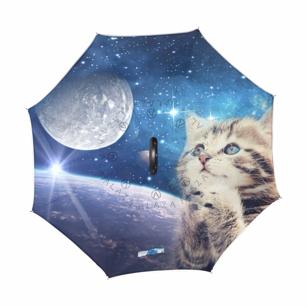 64376240a81b4 Custom Cute Cat Reverse Umbrella Windproof Double Layer Inverted Umbrella  Cat Praying to the Starry Sky Women Umbrellas Rain-in Umbrellas from Home &  Garden ...