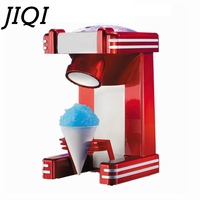 JIQI Mini Snow Drink Slushy Maker ice shaver block shaving machine ice crusher ice smoothies Snow Cone machine kitchen tools EU