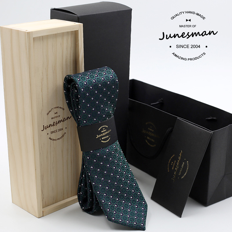 6cm silk neck tie man slim wedding necktie male mariage kravat green bot designer neckwear husband boy friend gift with wool box