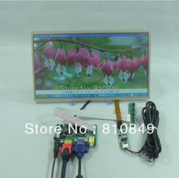 HDMI+VGA+2AV LCD Controller board+12.1inch 1366*8768 lcd HSD121PHW1+Touch Panel