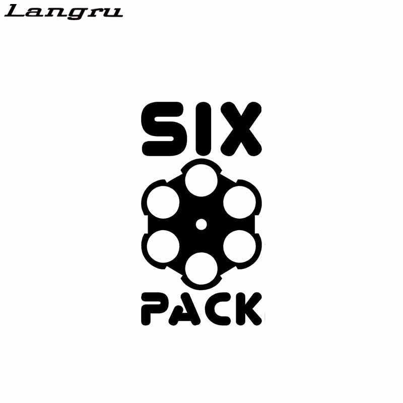 Langru Six Pack пистолет наклейки мультфильм автомобиль Стикеры винил Графика наклейки на автомобиль-Стайлинг автомобиля декоративные JDM
