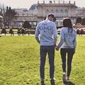 Couples Sweatshirts Letters Printed Long Sleeve Hoodies Lovers Sweatshirt Men&Women Pullovers