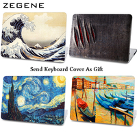 2016 New Blue Sky Case Laptop Protector For Mac Book 11 12 13 15 Inch Case