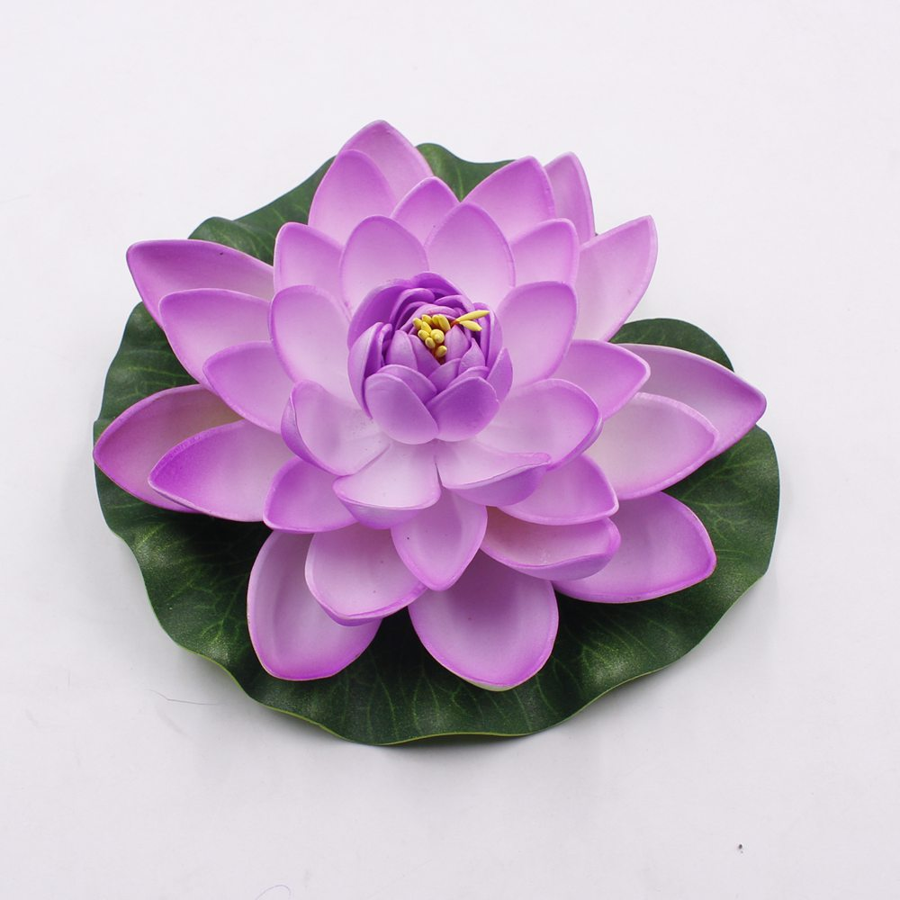 1 pcs 17 cm decoration garden artificial false foam lotus flowers 1 pcs 17 cm decoration garden artificial false foam lotus flowers lotus flower water lily floating pool garden plants decoration in artificial dried izmirmasajfo