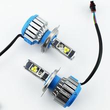 2 pièces voiture phare ampoule Kit Cree puce LED salut Lo faisceau Automobile phare lampe 12V 24V Auto phares H11 H4 H7 9005 9006 H1 H3