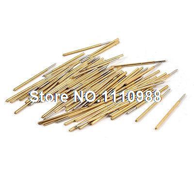 цена на 100 Pcs P100-B 1mm Dia Point Tip Spring PCB Testing Contact Probes Pin