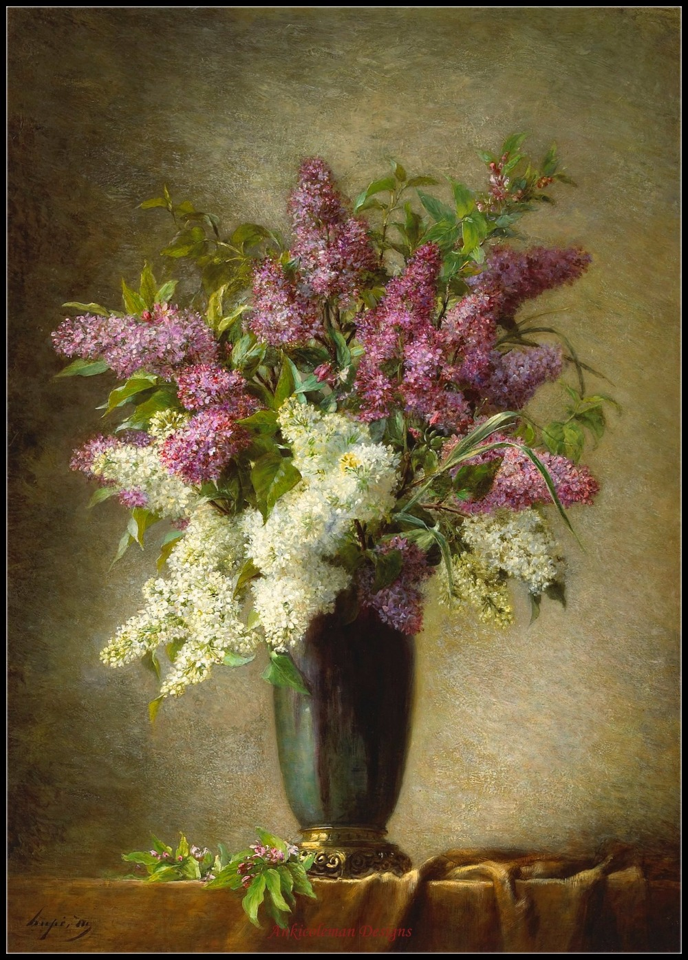 Needlework for Embroidery DIY DMC Color - Counted Cross Stitch Kits 14 ct Oil painting - A Still Life With Lilacs In A VaseNeedlework for Embroidery DIY DMC Color - Counted Cross Stitch Kits 14 ct Oil painting - A Still Life With Lilacs In A Vase