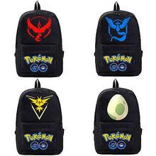 Pokemon GB Women Men Canvas Satchel Travel Backpack Lady's Boy's School Book Bag Rucksack