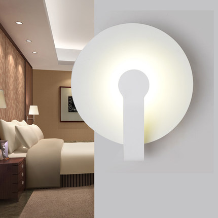 Simple Modern LED Wall Light Fixtures For Home Lighting Fashion Creative Circle Wall Sconce Bedside wall Lamps Lampara Pared simple creative fabric wall sconce band switch modern led wall light fixtures for bedside wall lamp home lighting lampara pared