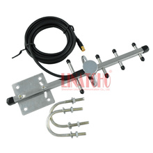 2.4ghz directional outdoor yagi antenna, Stainless Steel 5 elements,wireless camera cctv transmitter SMA male connector