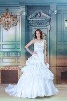 Бесплатная доставка, новинка 2016 года, хит продаж, бальное платье с маленьким шлейфом, на шнуровке, на заказ, размер/цвет, свадебное платье с б