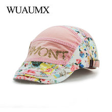Wuaumx Summer Womens Beret Hats Print Cotton Autumn Berets Female Spring For Lady Visor Flat Cap Baret