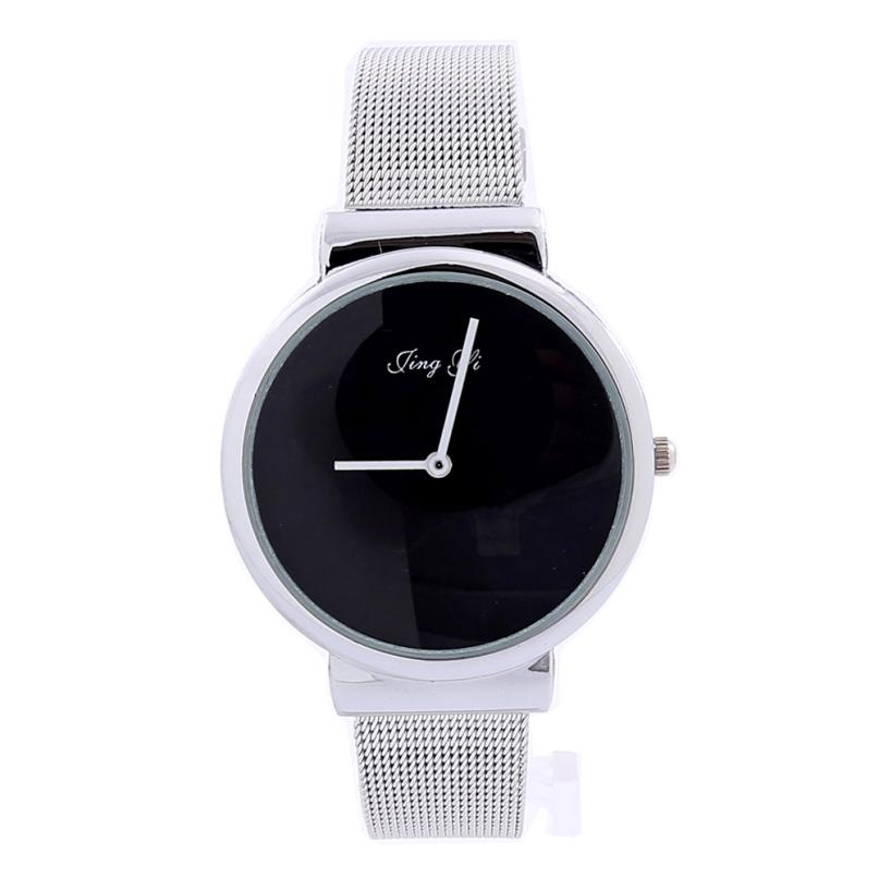 New Hot Fashion Simple Watch Men Quartz Watch Reloj Hombre Stainless Steel Mesh Belt Women Watches Montre Homme A02 fashion casual quartz watch for men oversize stainless steel case leather strap simple analog dial reloj hombre montre homme
