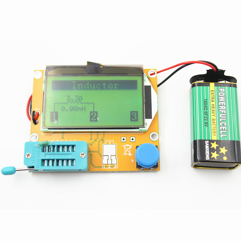 Hot!! ESR-T4 Mega328 Digital Transistor Tester Diode Triode Capacitance ESR Meter MOS/PNP/NPN LCR TESTER METER 12864 LCD screen