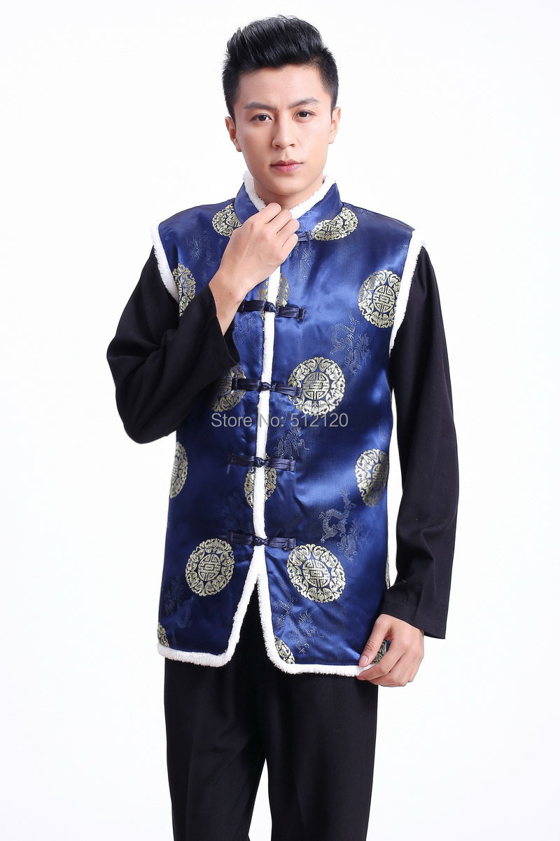 Free shipping 2014 New Sale Ethnic Clothing chinese traditional clothes vests for men chinese traditional jackets 2 color 2370 benfica camisola 2020