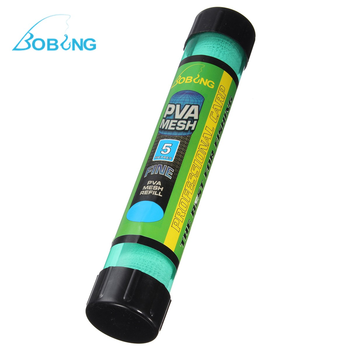 Bobing 5M 37mm PVA Dissolving Narrow Mesh in Tube Carp Fish Feeder Water Solution Refill Net with Plunger Boilie Fishing Tackle машинка брунер poli robocar