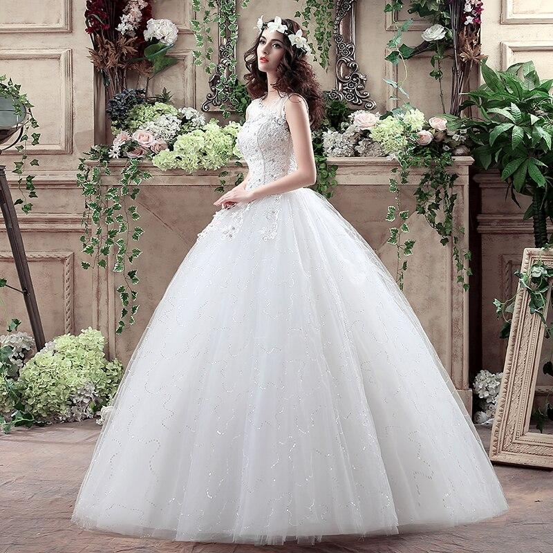 Vintage Lace Ball Gown Wedding Dresses 2018 Vestido De Novia Sheer ...