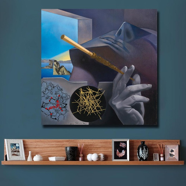 Oil Painting Dali Smoker Pierrot and Columbine Blue Sky For Home Decor On Canvas Modern Wall Art Canvas Print Canvas Painting 3