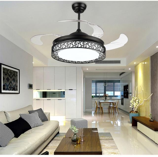 """Hidden Ceiling Fan aliexpress : buy ultra quiet 36"""" 110 240v24w*2 bicolor"""