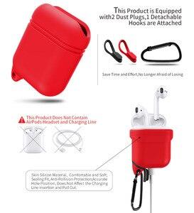 Image 4 - Waterdichte Oortelefoon Case Voor Airpods Shockproof Beschermhoes Headset Gevallen Voor Airpods Case Leuke Fluorescentie Tpu Siliconen