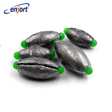 Enjort 3pcs/lot Open Lead Sinker Olive Shaped Accessories For Lure Sea Fishing Quick Change Line 5 Size Fishing Supplies