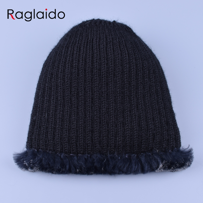 Raglaido Fur Hats for Women Winter Real Rex Rabbit Hat floral kniting female warm snow caps ladies elegant princess hat LQ11299 5