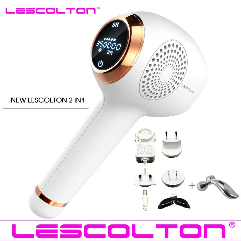Lescolton newest 2in1 IPL Laser Hair Removal Device Permanent Hair Removal IPL laser Epilator Armpit Hair Removal machine-in Epilators from Home Appliances