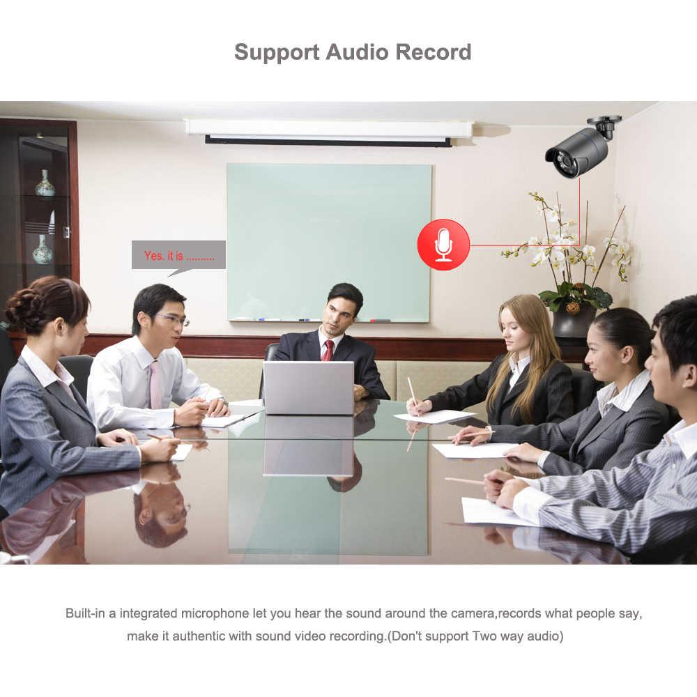 AZISHN H.265 8CH 1080P HDMI POE طقم NVR نظام الأمن CCTV 2MP الأشعة تحت الحمراء في الهواء الطلق تسجيل الصوت كاميرا IP P2P مجموعة مراقبة الفيديو