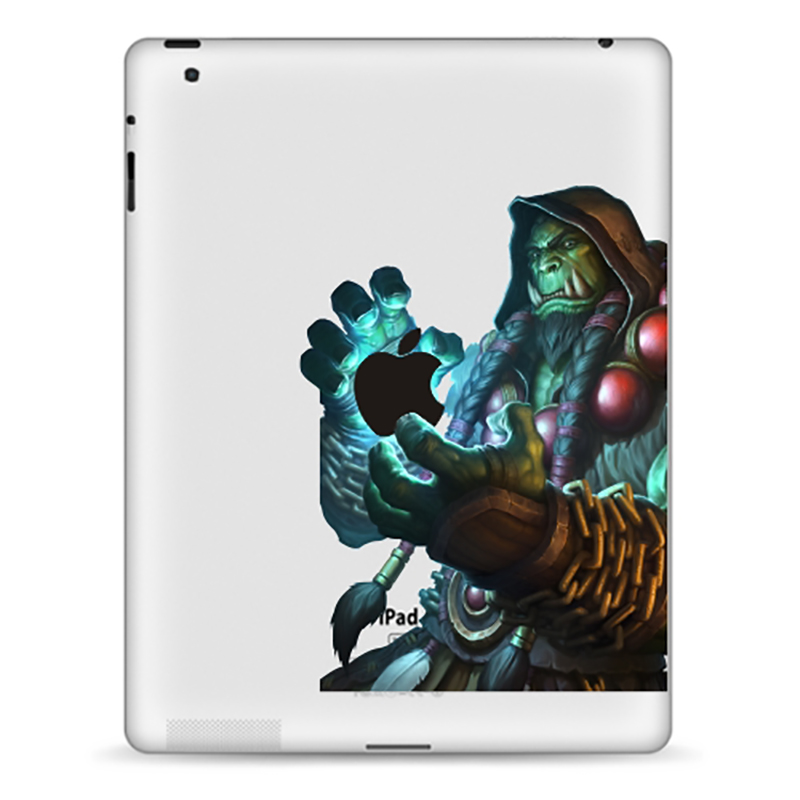 Tablet Decals Funny Stickers Gourdin For IPad1/2/3/4 Air/Pro9.7inch IPad Mini1/2/3/4